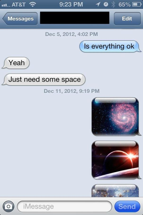 Never ask a science fiction fan for space...